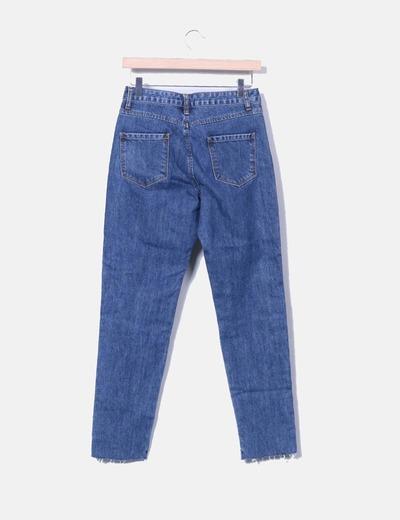 Jeans denim mon fit con arandelas