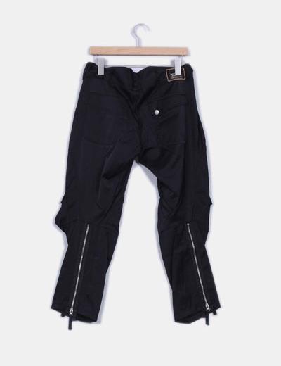 Pantalon negro baggy textuxa impermeable