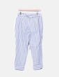 Pantalón baggy rayas azules Zara