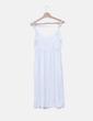 Vestido blanco abotonado NoName