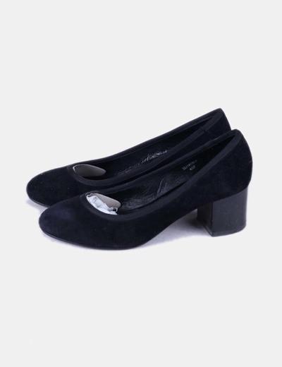 Chaussures noir salon en daim en daim Topshop