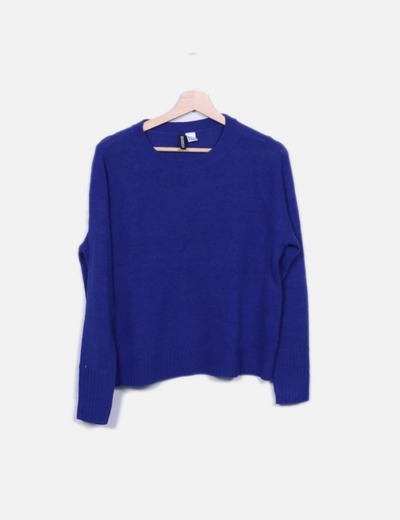 Jersey de punto azul H&M