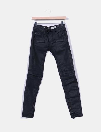 Pantalones encerados negros INDIAN