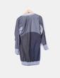 Vestido gris abullonado combinado Desigual
