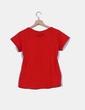Top rojo manga corta detalle bolsillo Sfera