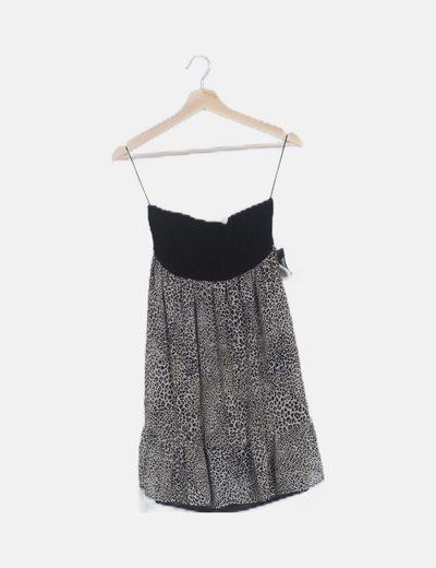 Vestido mini animal print