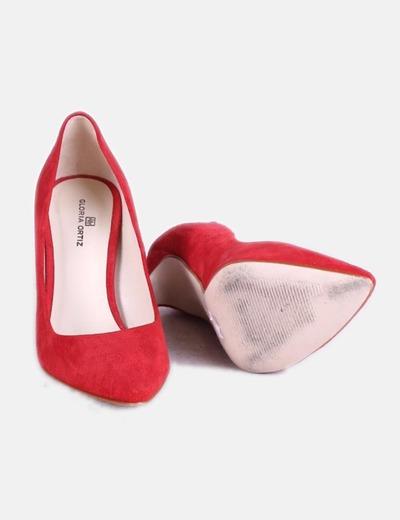 Zapatos Rojo Ante Zapatos Salón Salón xrChQdBots