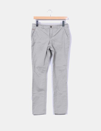 Pantalón verde kaki Lefties