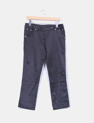 Pantalón negro saitnado NoName