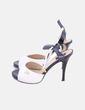 Sandalia de tacón bicolor charol Cavalinho