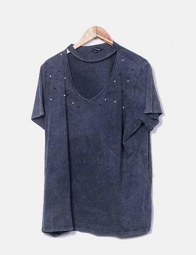 T-shirt gris perles Mode Team