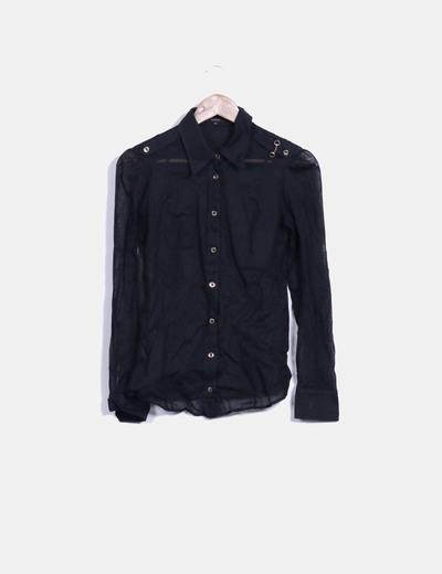 Camisa negra manga larga Gucci