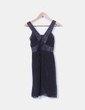 Vestido negro de gasa con pedrería miMaO
