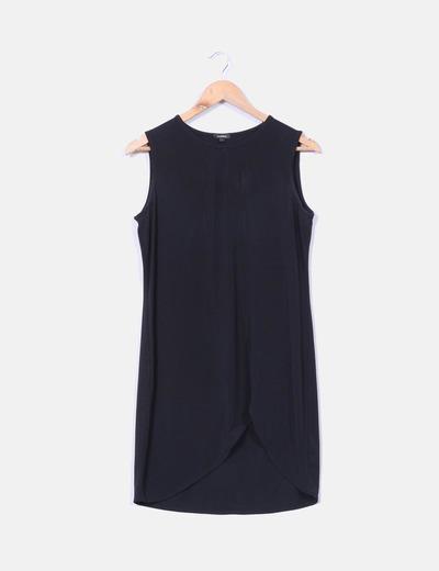 Vestido negro elástico Minimil