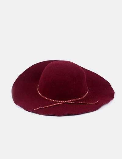 Sombrero fedora fieltro burdeos