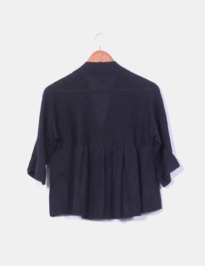 Cardigan negro corto