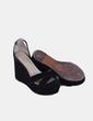 Sandales noires à bandes en daim Jonak