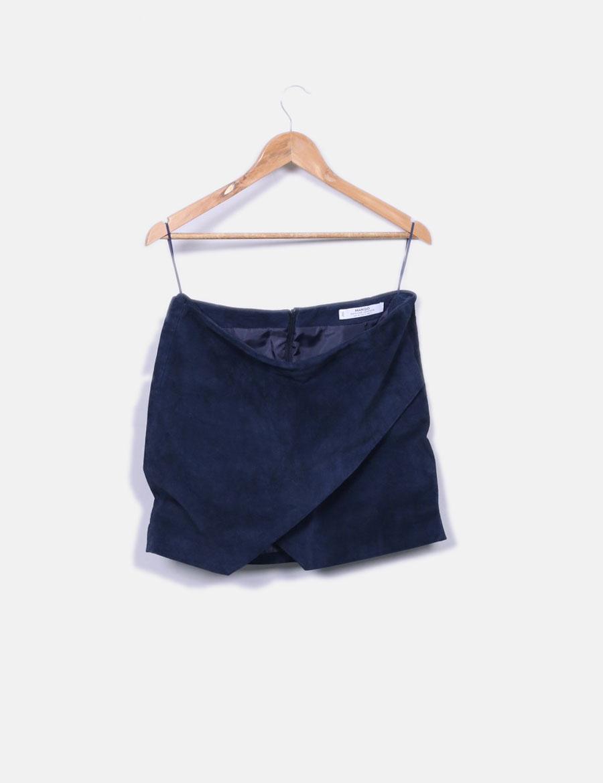 18b5fc8ab azul mini online Mango marino Falda Faldas de piel baratas SPqBCwnCx ...