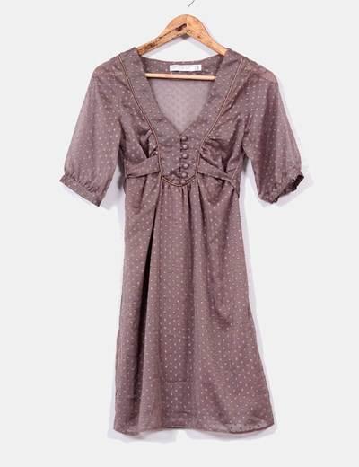Vestido marrón Zara