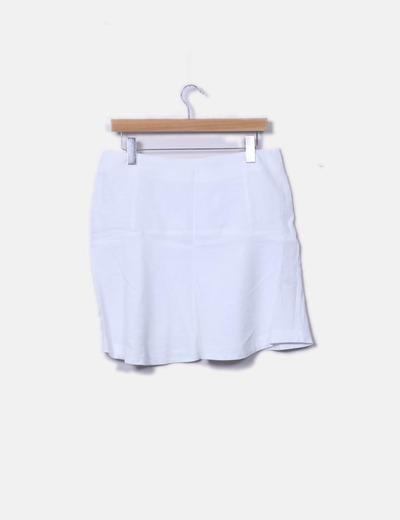 Falda blanca de lino Adolfo Dominguez