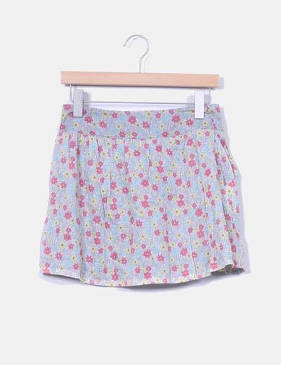 Falda estampado floral Zara