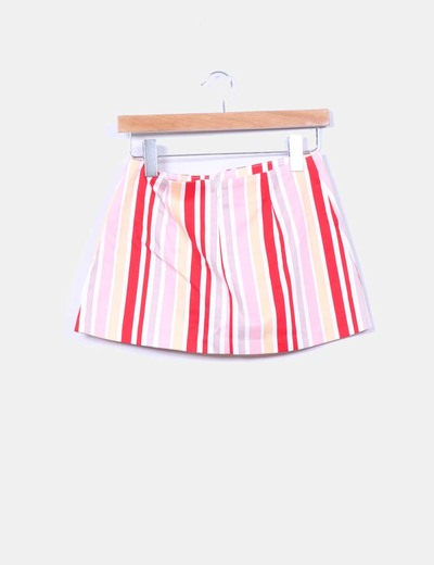 Mini falda rayas