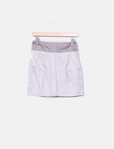 Falda de tela beige Made in Italy