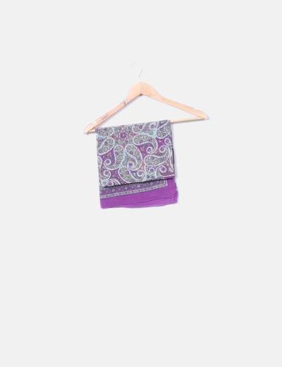 Pañuelo morado estampado paisley Pieces