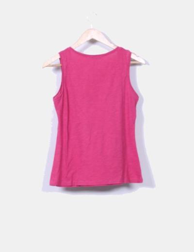 Camiseta rosa estampada