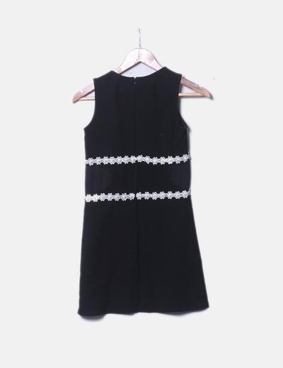 31e03a0a1 River Island Vestido negro detalle perlas cintura (descuento 71%) - Micolet