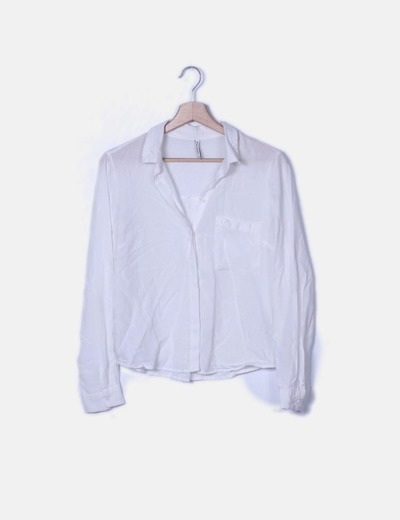 Blusa corta blanca