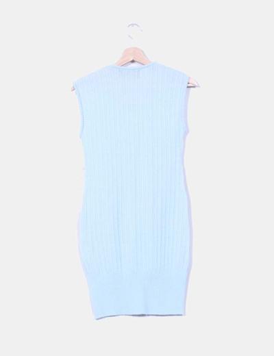 Vestido de punto azul pastel