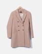 Abrigo marrón doble botonadura Massimo Dutti