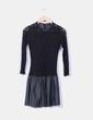 Vestido negro combinado Zara