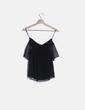 Blusa plumeti negra Zara