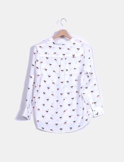 fdf016fd3 Asos Blusa blanca manga larga con estampado (descuento 85%) - Micolet