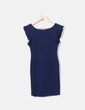 Navy blue dress with polka dots Jiro Modas