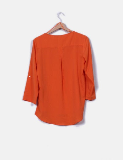 Blusa naranja tail hem