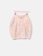 Falda globo nude texturizado glitter H&M