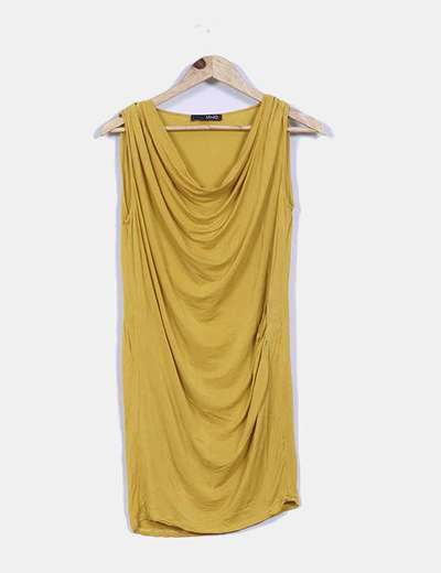 Vestido mostaza sin mangas Liu·Jo