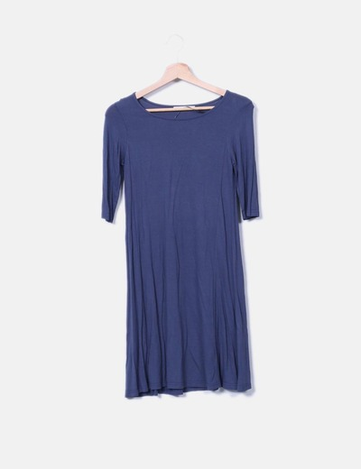 Vestido azul petróleo Shana