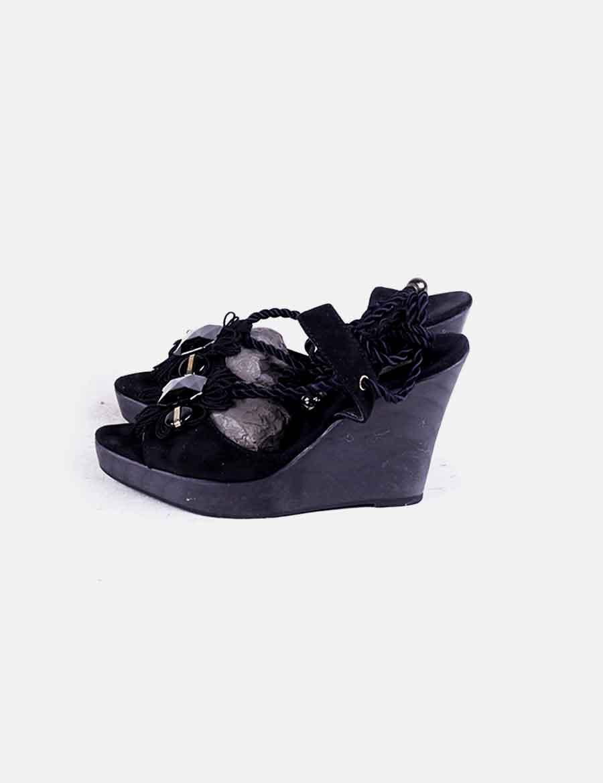 De Cuñas Zapatos Uterqüe Sandalias At Strass Mujer Wxfqd45w Negras TiZuOPkX