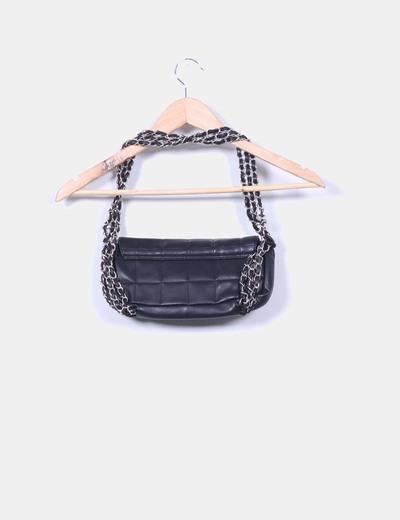 Bolso negro rectangular