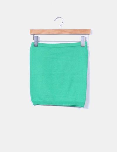 Top verde de punto sin mangas Vero Moda
