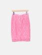 Falda midi crochet rosa H&M