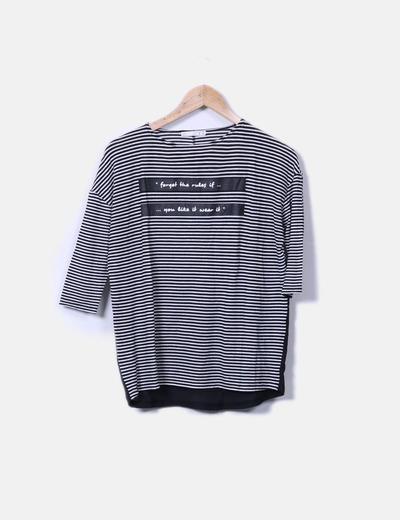 Camiseta de rayas con letras Lefties