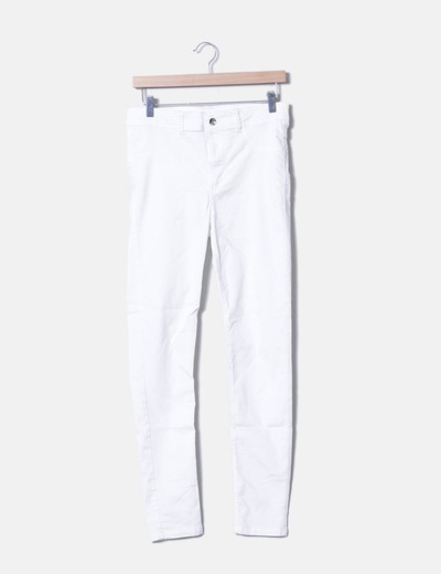 5c77f003d04cd Stradivarius Pantalon blanc long (réduction 73%) - Micolet
