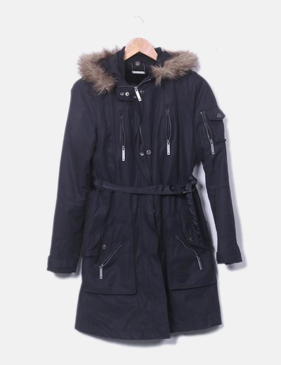 Zippée anorak noir Pepe Jeans
