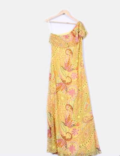 Maxi vestido floral detalle  foulard  Tintoretto