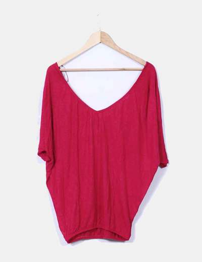 Camiseta roja oversize